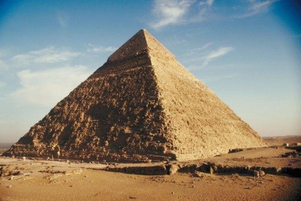La pirámide de caliza de Kefrén en Giza.