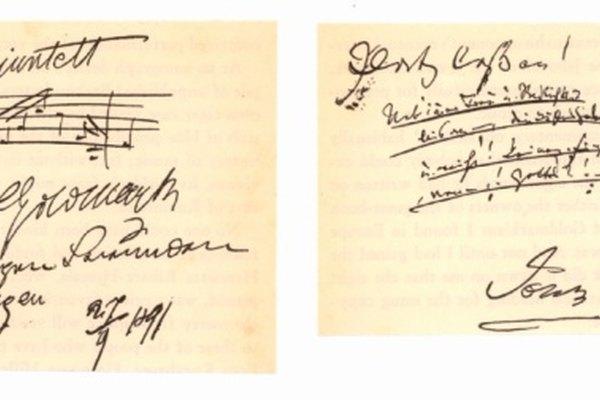 Muchos personajes famosos, como Johannes Brahms, tuvieron autógrafos hermosas.