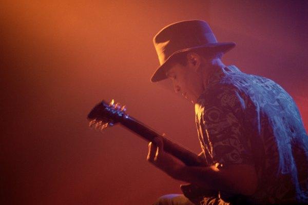 La guitarra eléctrica a menudo se usa en la música blues.