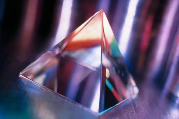 La luz que incide en un prisma sale del otro lado de un vector perpendicular.