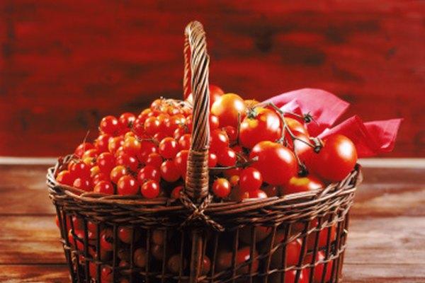 Pinta un esquema de la fruta, tal como una manzana o cerezas en una cesta.