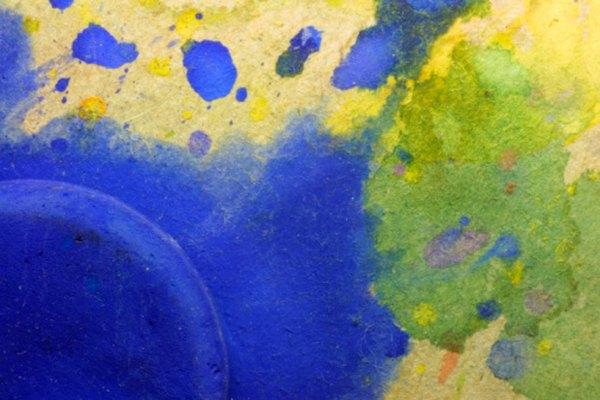 La goma arábiga mejora las pinturas de acuarela para hacerlas más brillantes y vibrantes cuando secan.