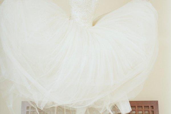 Un vestido de tutú se puede utilizar como vestido de novia.