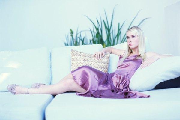 Aunque elegante, es difícil cuidar un vestido de seda.