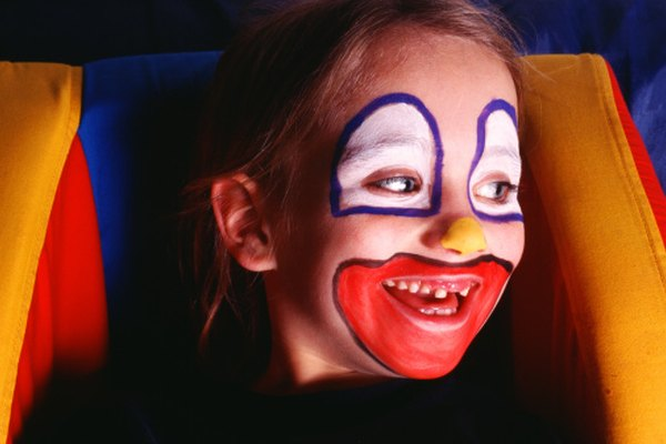 Homemade face paint is safe to use on kids' faces.