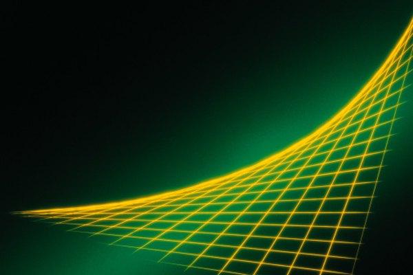 La línea gruesa amarilla forma una parábola.