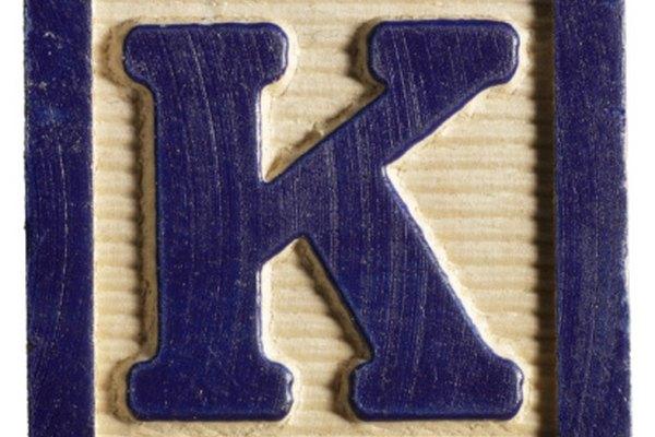 El sonido K corresponde a las letras K y C.