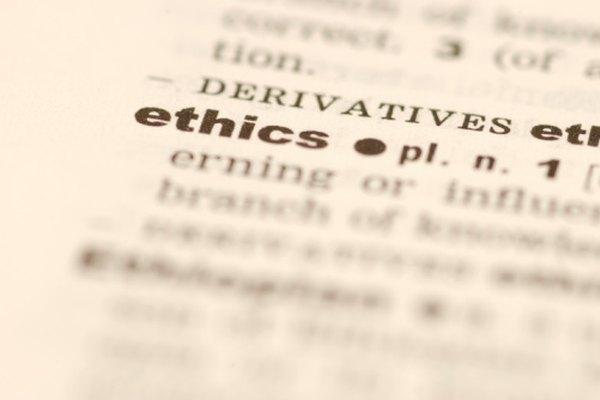La ética en un ambiente de negocios se desarrolla de manera diferente que la de la vida personal.