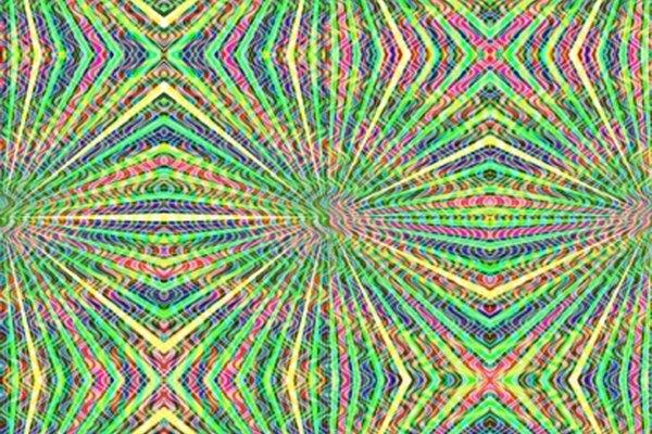 El arte psicodélico es abstracto en formas específicas de la época de los 60s y 70s.