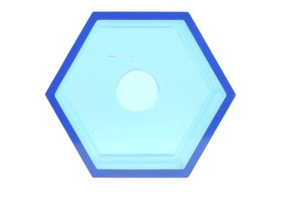 Un hexágono es una forma geométrica común.