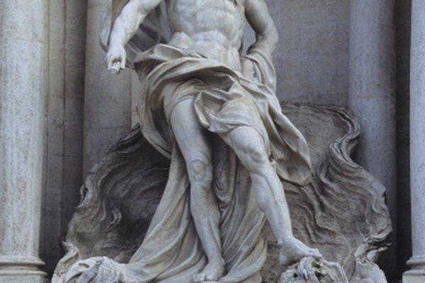 Esta antigua escultura griega representa a Poseidón.