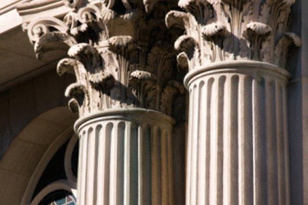 Las columnas griegas corintias eran muy detalladas.