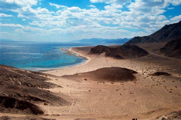 El Mar Rojo en el Medio Oriente se formó por las distintas placas continentales.