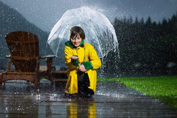 La precipitación se mide usando un pluviómetro.