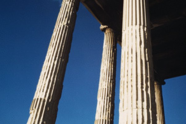 Los templos griegos representan la simetría griega y la geometría.