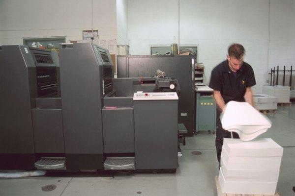 La impresora de pliegos requiere un tipo específico de papel.