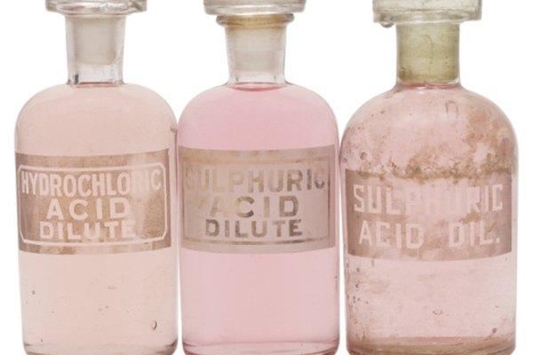 Los ácidos fuertes como el ácido clorhídrico son más seguros diluidos.