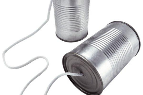 Una cuerda más larga te permite hablar desde una distancia mayor.