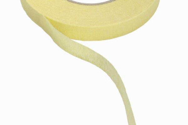 La cinta se guarda a menudo en rollos.