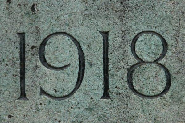 Mucha de la literatura del siglo XX se formó como tal a finales de la Primera Guerra Mundial en 1918.