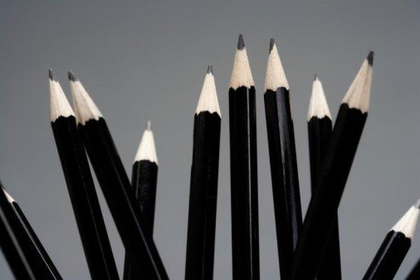 Los lápices deberían estar afilados cuando comiences un proyecto de calco.