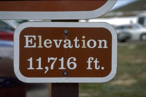 La elevación y la altitud están medidas en relación al nivel del mar.