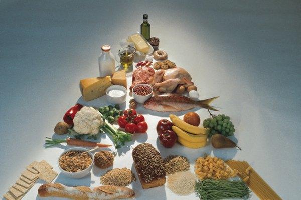 La pirámide alimenticia es una muestra gráfica de las guías de dieta.