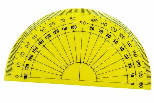 Los transportadores son utilizados para medir y dibujar ángulos.