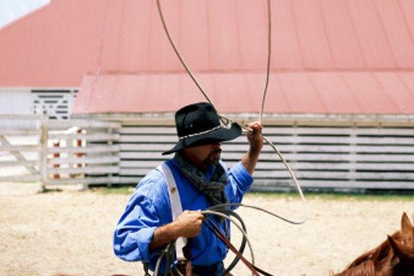 Los vaqueros usan un lazo para enlazar ganado.