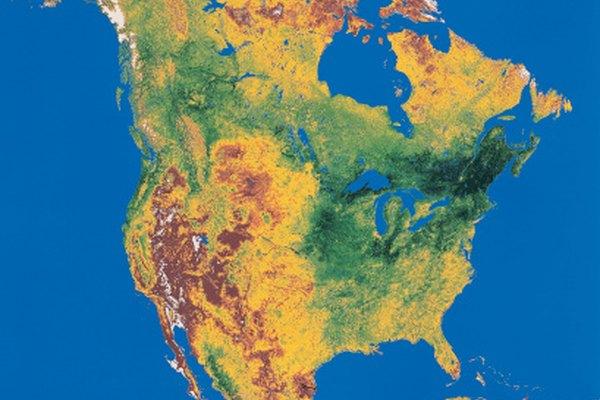 Los mapas topográficos revelan el contorno de la superficie de la tierra.
