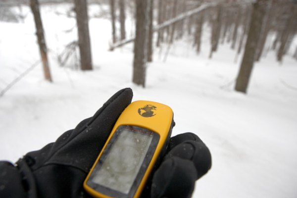 A typical handheld GPS device