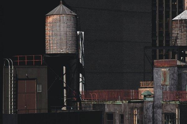 Las torres de agua son ejemplos de tanques cilindrocónicos.