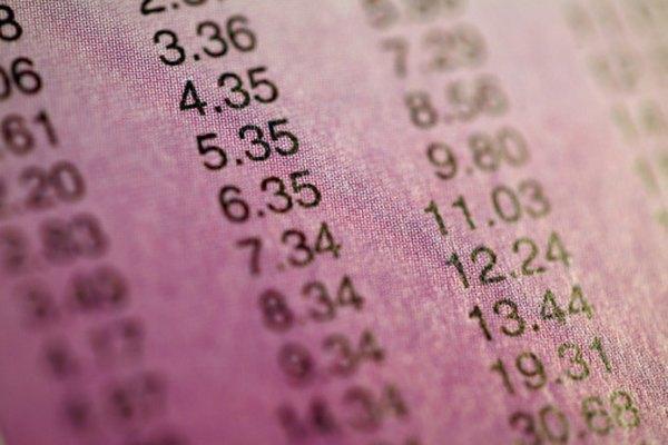 El seguimiento de precios de las acciones es un ejemplo de la evaluación cuantitativa.