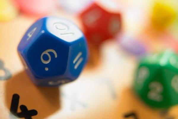 Se pueden usar dados en los juegos matemáticos de probabilidad.