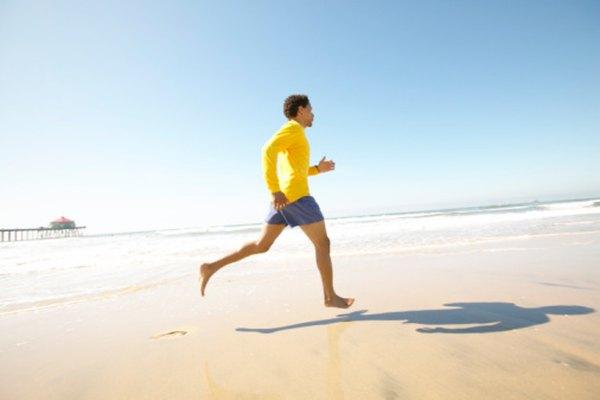 A una velocidad constante, la distancia de un corredor puede modelarse en forma de pendiente-intersección.