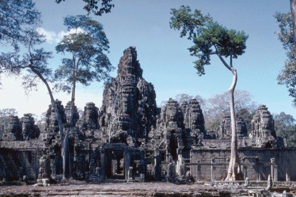 Angkor Wat, monumento de arenisca en Tailandia.