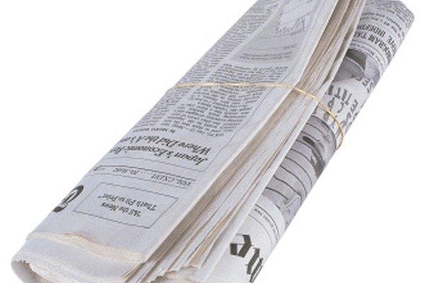Oraciones en los periódicos pueden ser analizadas para practicar.