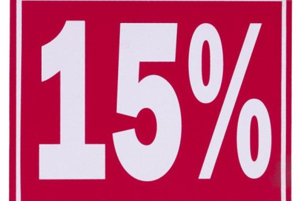 El quince por ciento significa 15 partes de cada 100.