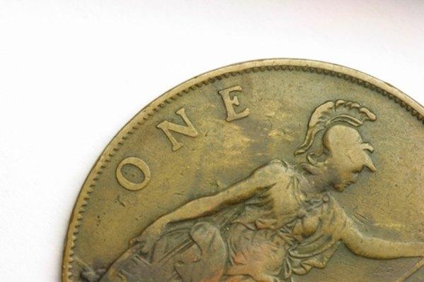 El diseño de esta moneda ha perdido muchos detalles.