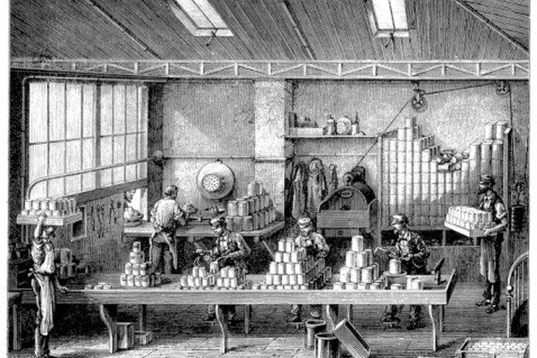 Las latas fueron desarrolladas a principios de 1800.