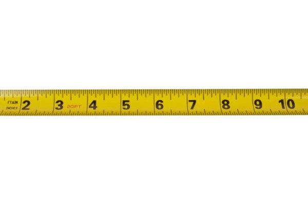 No todas las cintas métricas incluyen pulgadas y centímetros.