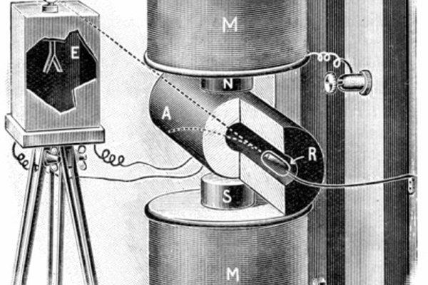Marie Curie experimentó con la desviación de los rayos beta en el 1800.