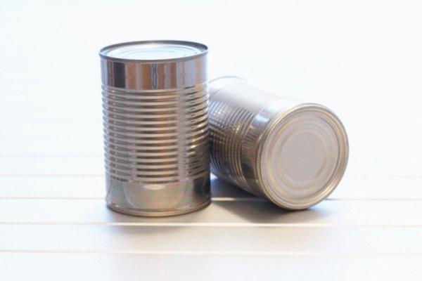 Las latas son cilindros.