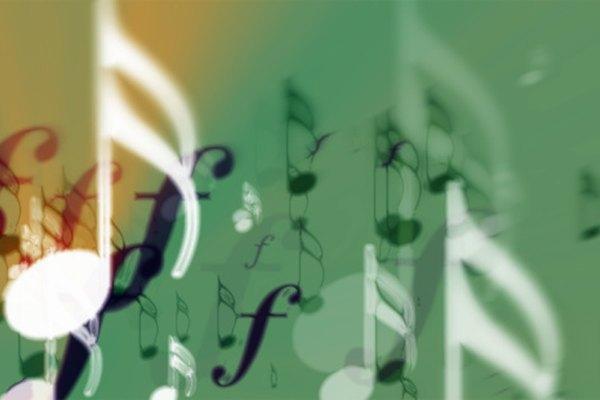 La música consiste en varios símbolos y términos que proporcionan instrucciones.