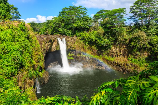 Hawaii, Rainbow Falls in Hilo.