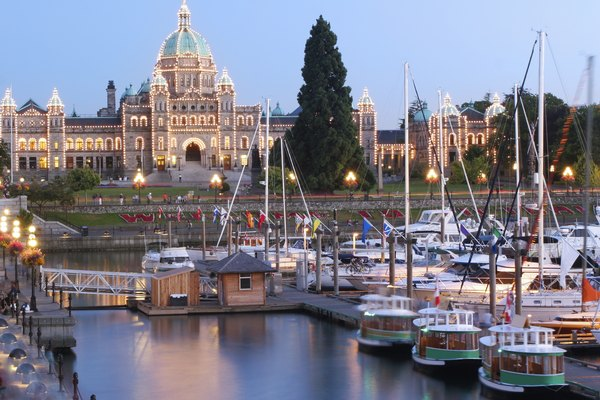 Victoria at Dusk, British Columbia