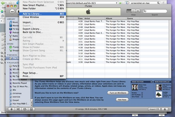 how to add track from cd to itunes
