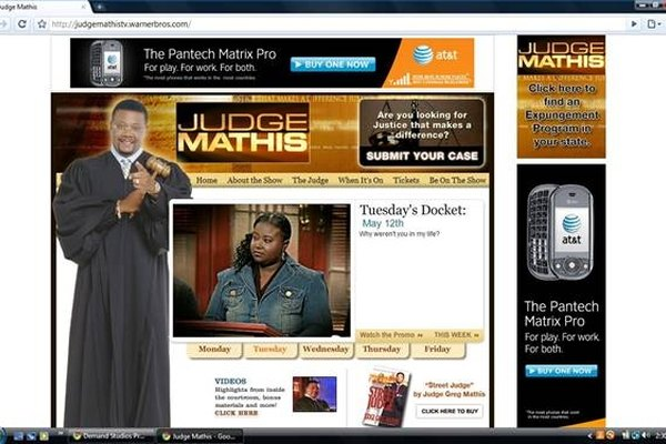Get Tickets to the Judge Mathis TV Show