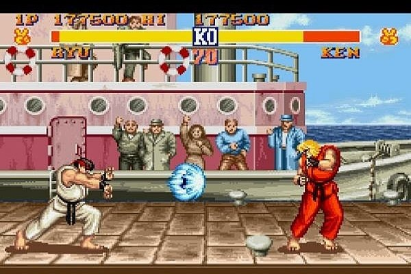 Throw a hadouken in Street Fighter