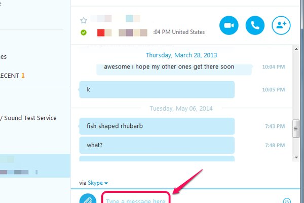 Instant messaging on Skype